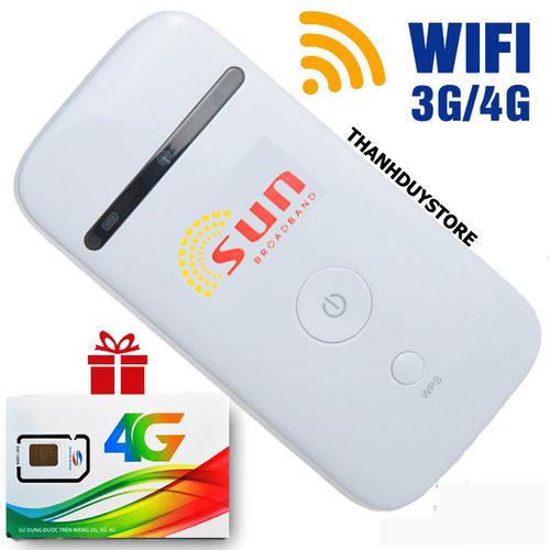Thiết bị phát wifi từ sim 3G 4G di dộng SUN cực HOT hiện nay