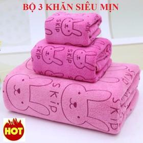 Bộ 3 khăn tắm hàng Thái siêu mịn - bộ 3 khăn