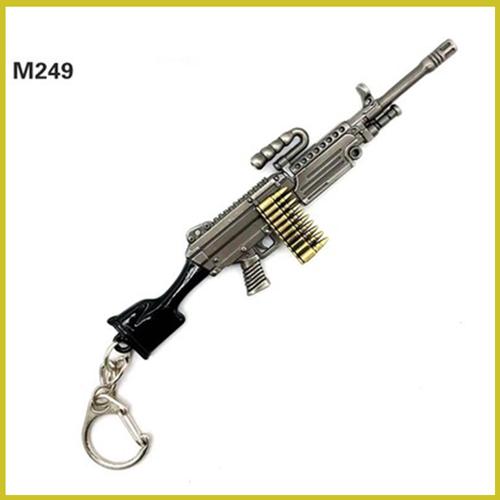 Móc khóa PUBG M249, phụ kiện PUBG, móc khóa m249