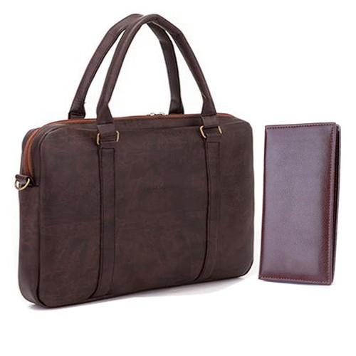 Bộ đôi Túi công sở công cao cấp và ví da cầm tay G3 - VÍ 61661
