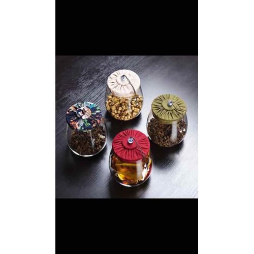 Hũ đựng trà hoa bằng thuỷ tinh 800g
