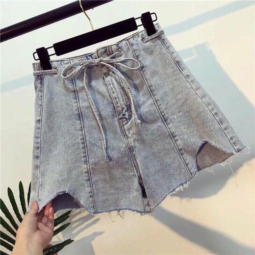 quần short jean buộc nơ