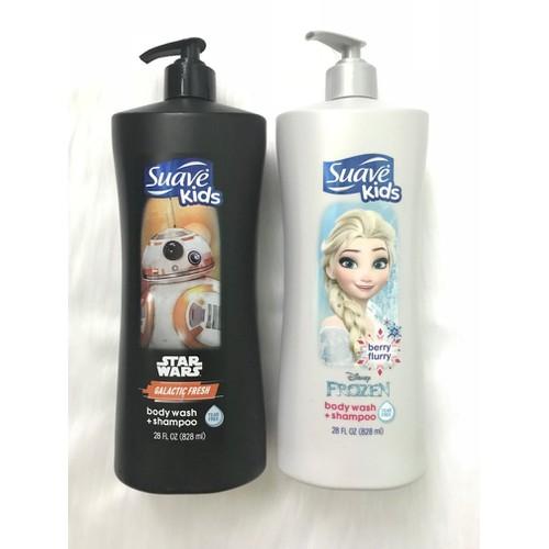 Sữa tắm gội xả Suave Kids 3in1 Star Wars, 828ml