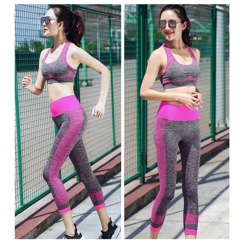Quần áo tập Gym nữ, Bộ Quần áo thể thao, Bộ đồ tập Gym - SET010