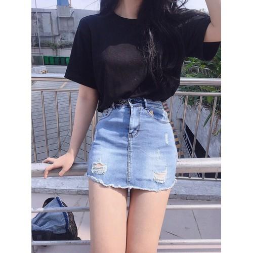 chân váy jean