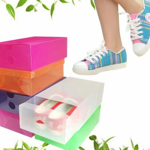 Combo 60 Hộp đựng giày bằng nhựa cao cấp trong suốt