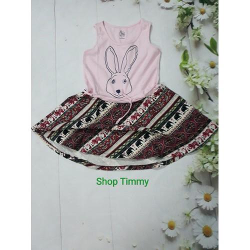 Đầm thỏ bé gái