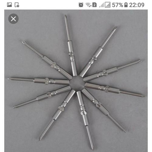Mũi vặn vít  bake OHMI VH-4 0x4x60 loại 1.7×20 bộ 10 mũi