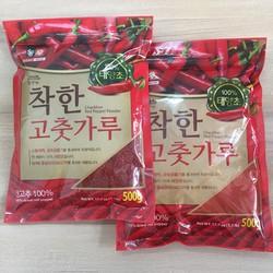 Ớt Bột Hàn Quốc -  Combo[500g Bột Mịn  500g Bột Vẩy]