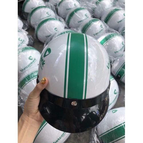 [02 cái] nón bảo hiểm đi xe máy - mũ nhựa in logo