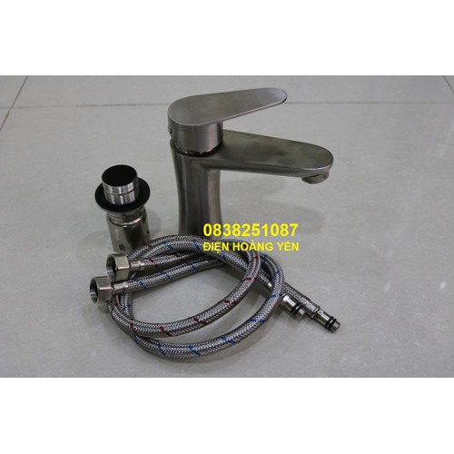 Vòi lavabo nóng lạnh inox 304