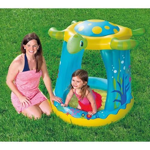 Hồ bơi phao bể bơi phao, đáy mềm, có mái che con rùa cho bé 109x96x104cm bestway 52219
