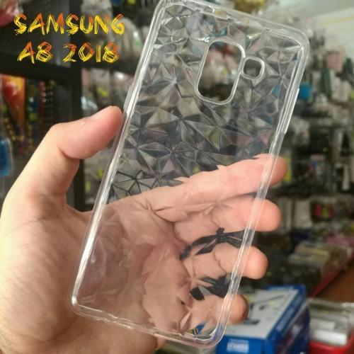 Ốp Lưng Samsung A8 2018 Dẻo Trong Suốt Vân 3D