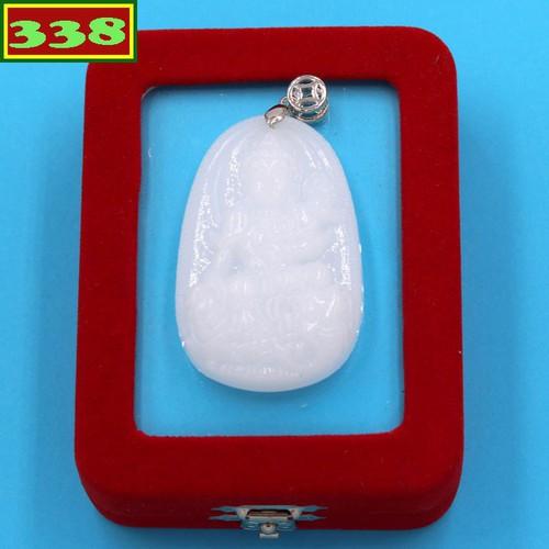 Mặt dây chuyền Bồ tát Phổ hiền phật bản mệnh tuổi Thìn - Tỵ thạch anh trắng 5cm kèm hộp nhung