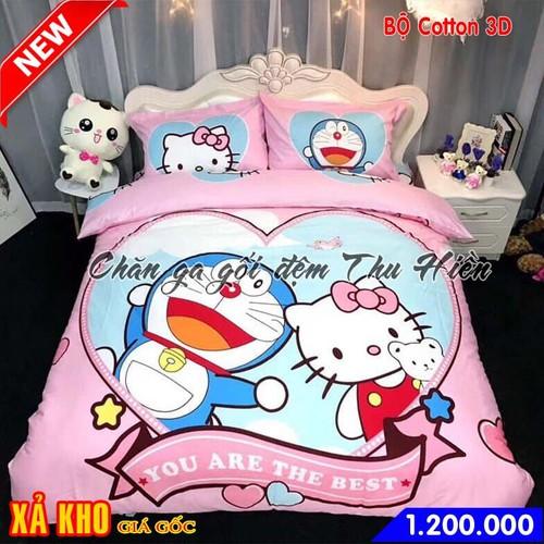 Bộ chăn ga gối cotton 3D cho bé hình mèo Kitty và Đôrêmon - 6709929 , 13395232 , 15_13395232 , 1200000 , Bo-chan-ga-goi-cotton-3D-cho-be-hinh-meo-Kitty-va-Doremon-15_13395232 , sendo.vn , Bộ chăn ga gối cotton 3D cho bé hình mèo Kitty và Đôrêmon