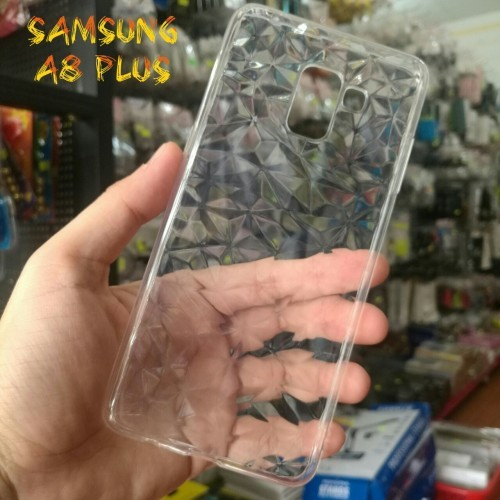 Ốp Lưng Samsung A8 Plus Dẻo Trong Suốt Vân 3D