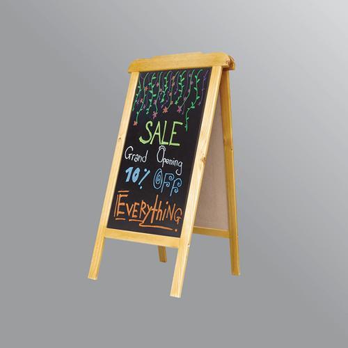 Bảng Menu gỗ đứng hai mặt 60*120 cm Tặng bút huỳnh quang, bông lau, hộp phấn