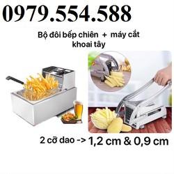 Bếp chiên nhúng điện máy cắt khoai tây KFC