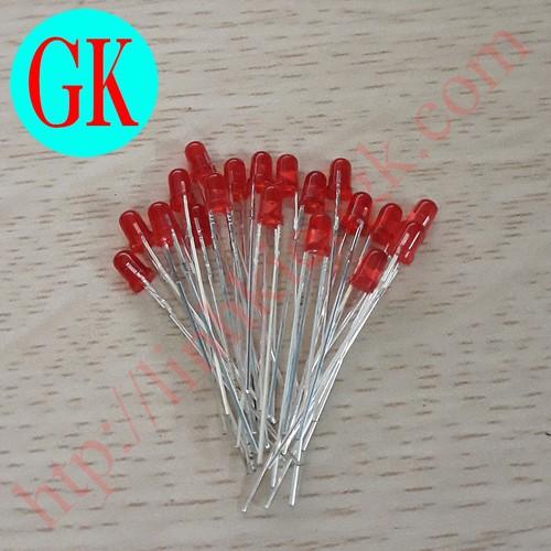 [50 cái] led 3 mm màu đỏ - [a03] - đèn báo