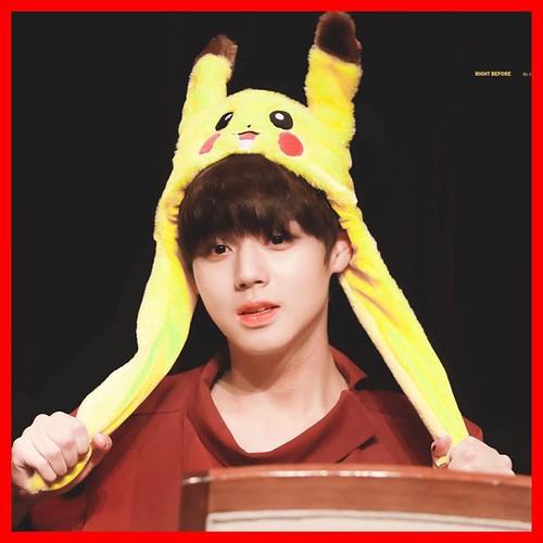Mũ tai thỏ giật [ pikachu ]