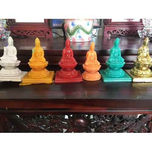 Tượng Phật Bà đá poly  đủ màu sắc Cao12cm,dài 7cm,rộng7.5cm chỉ 95.000đ