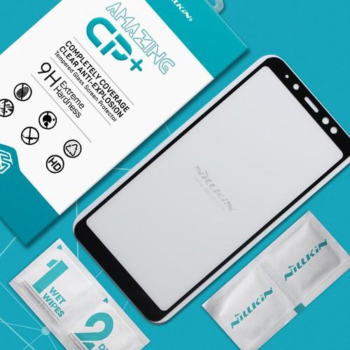 Kính cường lực Galaxy A8 Plus 2018 Full Nillkin đen