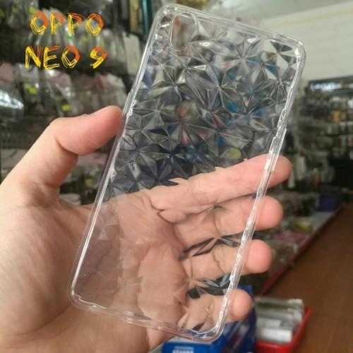 Ốp Lưng Oppo Neo 9 Dẻo Trong Suốt Vân 3D