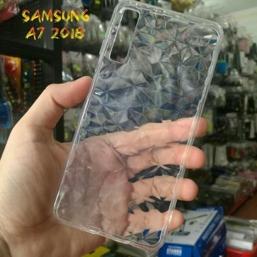 Ốp Lưng Samsung A7 2018 Dẻo Trong Suốt Vân 3D