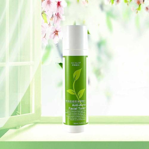 Nước hoa hồng tinh chất trà xanh dành cho da mụn monsa anti acne facial toner 180ml
