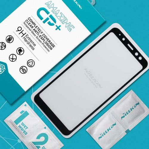 Kính cường lực Samsung Galaxy A8 2018 Full Nillkin đen
