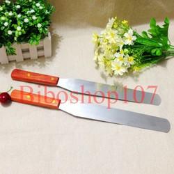 Dụng cụ chà láng thẳng, trét kem bánh gato cán gỗ cao cấp 20cm
