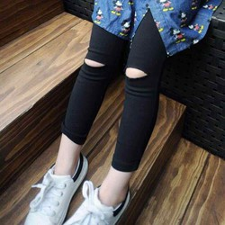 Mẫu quần leggging rách gối dành cho bé