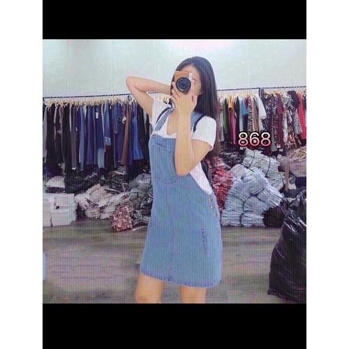 Chân váy yếm jean loại ngắn nữ dễ thương - 6575029 , 13234983 , 15_13234983 , 145000 , Chan-vay-yem-jean-loai-ngan-nu-de-thuong-15_13234983 , sendo.vn , Chân váy yếm jean loại ngắn nữ dễ thương