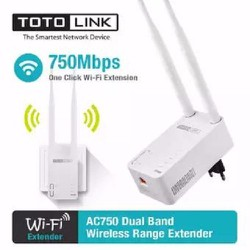 Bộ mở rộng sóng wifi băng tần kép Totolink chuẩn AC750 EX750 - Hãng Phân Phối Chính Thức