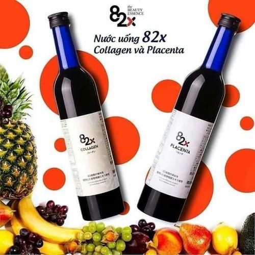 Cặp Nước Uống Đẹp Da Collagen 82X Và Placenta 82X - CHÍNH HÃNG - Xuất Xứ Nhật Bản