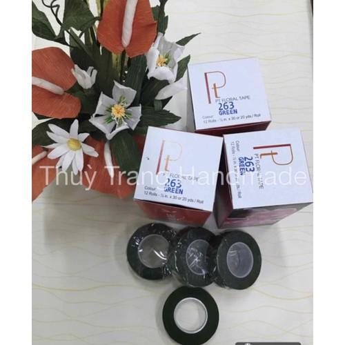 1 cuộn băng keo sáp Đài Loan màu xanh quấn cành làm hoa giấy hoa voan - 6594086 , 13259193 , 15_13259193 , 10000 , 1-cuon-bang-keo-sap-Dai-Loan-mau-xanh-quan-canh-lam-hoa-giay-hoa-voan-15_13259193 , sendo.vn , 1 cuộn băng keo sáp Đài Loan màu xanh quấn cành làm hoa giấy hoa voan
