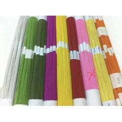 1 bó 100 sợi kẽm giấy số 24 mềm màu HỒNG làm hoa giấy hoa voan