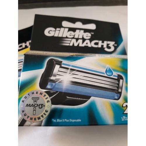Hộp 2 lưỡi dao cạo râu Gillette Mach 3 chính hãng