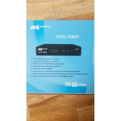 Đầu Thu  Kỹ Thuật Số Mặt Đất DVB-T2 VTC-T201