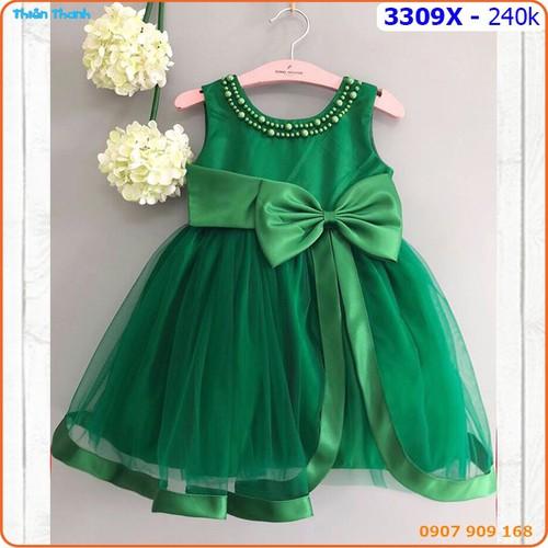 Đầm công chúa đính hạt châu sang chảnh cho bé - 3309