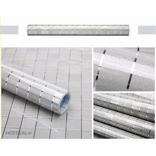 10m giấy dán tường khổ 45cm họa tiết tráng nhôm bạc - 6584383 , 13247687 , 15_13247687 , 160000 , 10m-giay-dan-tuong-kho-45cm-hoa-tiet-trang-nhom-bac-15_13247687 , sendo.vn , 10m giấy dán tường khổ 45cm họa tiết tráng nhôm bạc