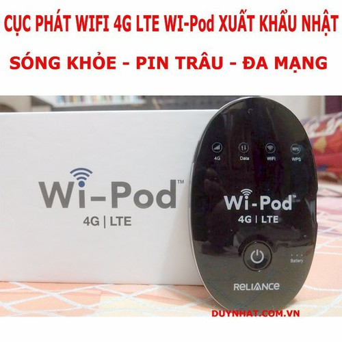 Cục phát wifi 4G LTE Wi-Pod sóng cực khỏe-pin cực trâu - 6582542 , 13245506 , 15_13245506 , 1198000 , Cuc-phat-wifi-4G-LTE-Wi-Pod-song-cuc-khoe-pin-cuc-trau-15_13245506 , sendo.vn , Cục phát wifi 4G LTE Wi-Pod sóng cực khỏe-pin cực trâu