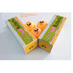 QUẢ BÓNG BÀN Butterfly 40 - 1 hộp 3 quả - vàng