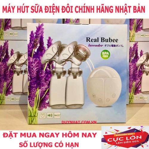 Máy vắt sữa điện đôi Real BuBee Nhật - Máy Vắt sữa, êm không gây sệ ngực