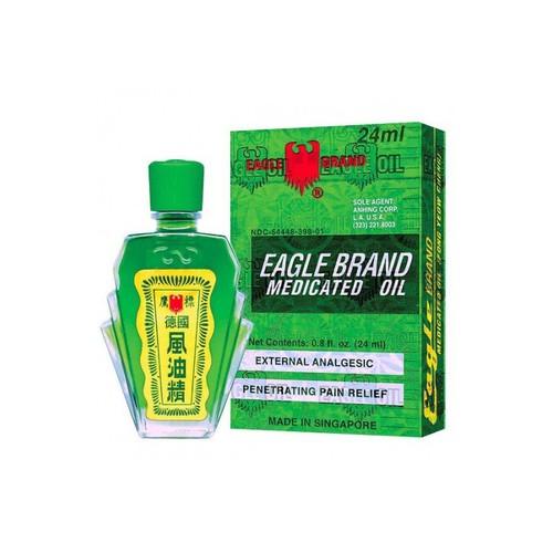 Dầu Gió Xanh Eagle Brand Medicated Oil 24ml Singapore
