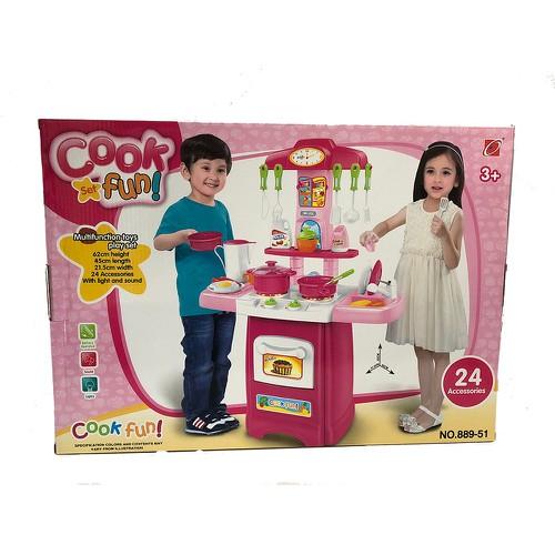 Bộ đồ chơi nấu ăn vui nhộn kết hợp ánh sáng và âm thanh 24 chi tiết