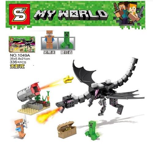 Lắp ráp xếp hình Minecraft đồ chơi sáng tạo mô hình rồng đen phun lửa 336 khối - 6584120 , 13247254 , 15_13247254 , 210000 , Lap-rap-xep-hinh-Minecraft-do-choi-sang-tao-mo-hinh-rong-den-phun-lua-336-khoi-15_13247254 , sendo.vn , Lắp ráp xếp hình Minecraft đồ chơi sáng tạo mô hình rồng đen phun lửa 336 khối