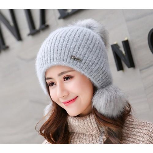 Mũ Nón Len Mũ Nón Mùa Lạnh Nữ Thời Trang Hàn Quốc