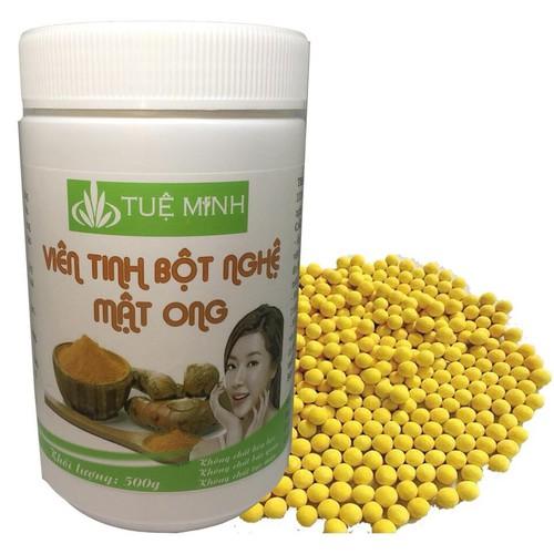 viên bột nghệ mật ong nguyên chất tuệ minh 0,5 kg