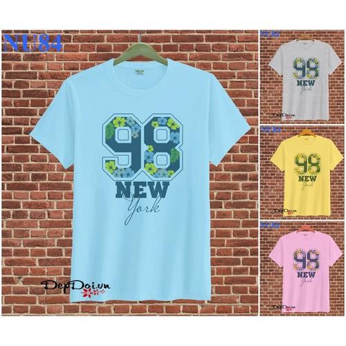 Áo thun unisex 98 New York NU84 - 7 màu
